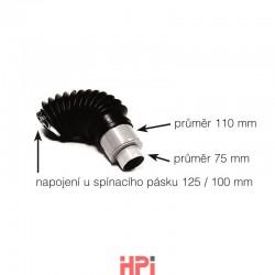 Napojení větracího komínu (flex-hadice)