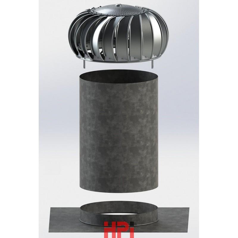 Set-1 pro plochou střechu s ventilační turbínou Lomanco BIB 14