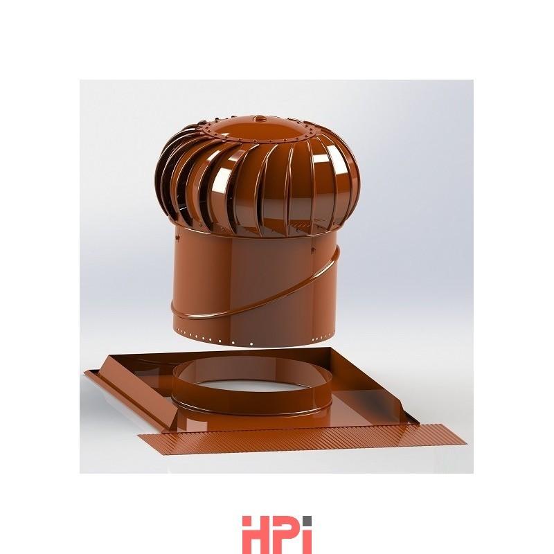 Set-1  pro šikmou střechu s ventilační turbínou Lomanco BIB 12 a univerzální základnou