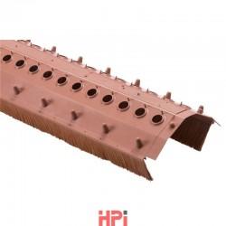 Větrací pás s kartáčem šířka 220 mm, kartáč 75 mm